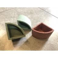 Керамический горшок для растений угловой 6см х 4см