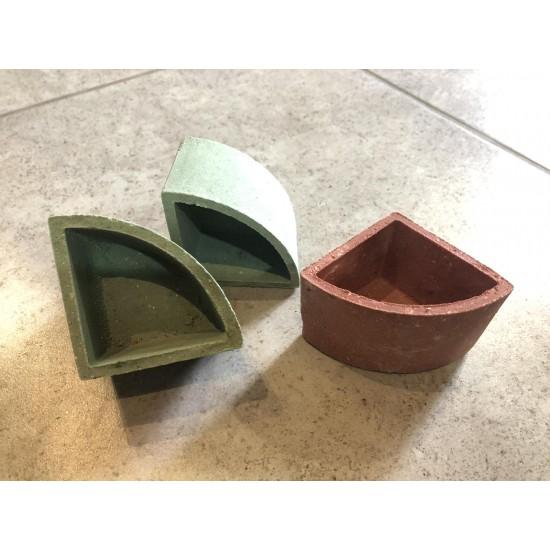 Фото Керамический горшок для растений угловой 6см х 4см Смотреть