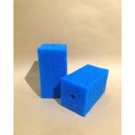 Губка гладкая синяя среднепористая 10х10х20