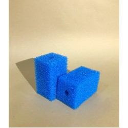 Губка гладкая синяя среднепористая 6х6х10