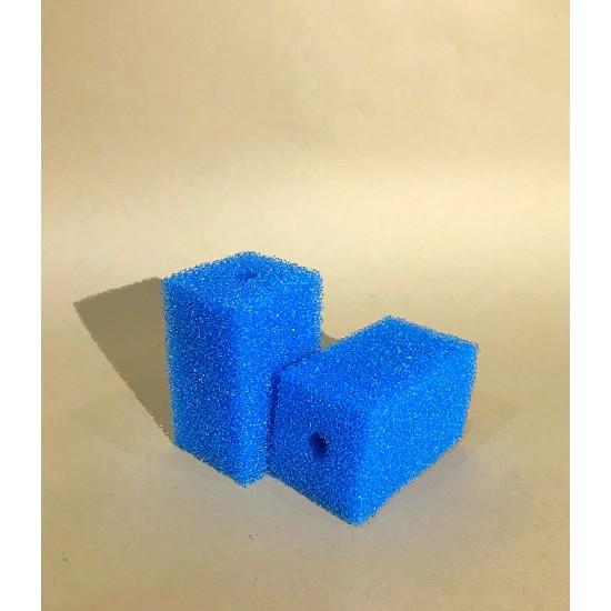 Фото Губка гладкая синяя среднепористая 6х6х10 Смотреть