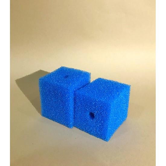 Фото Губка гладкая синяя среднепористая 8х8х10 Купить