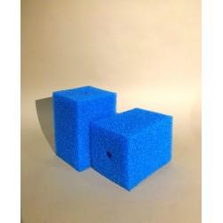 Губка гладкая синяя среднепористая 10х10х15