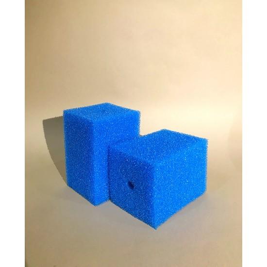 Фото Губка гладкая синяя среднепористая 10х10х15 Смотреть