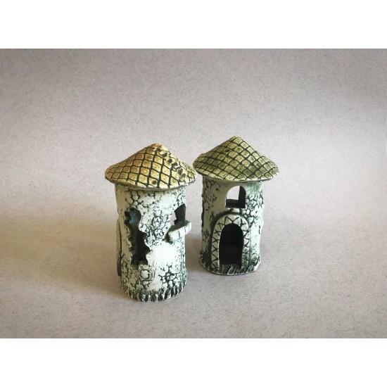 Фото Декорация керамика башня - 11см х 6см Купить