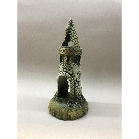 Фото Декорация керамика башня средняя - 24см х 10см Купить