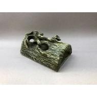 Декорация керамика бревно полусфера - 17см х 10см