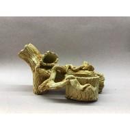 Декорация керамика коряга с горшком - 21см х 12см