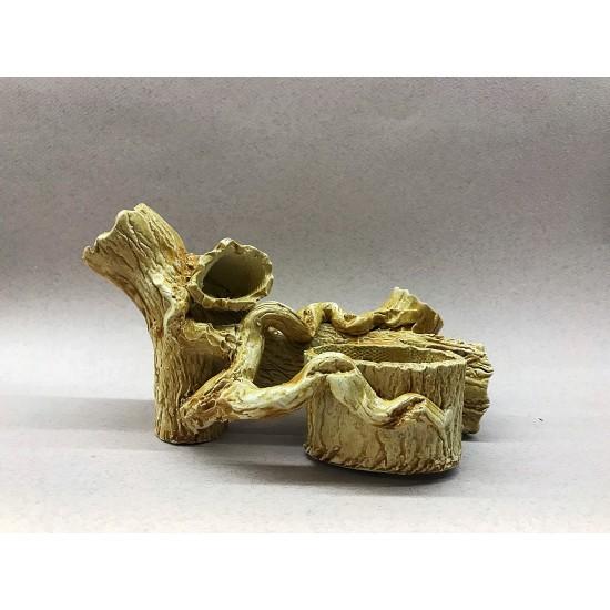 Фото Декорация керамика коряга с горшком - 21см х 12см Купить