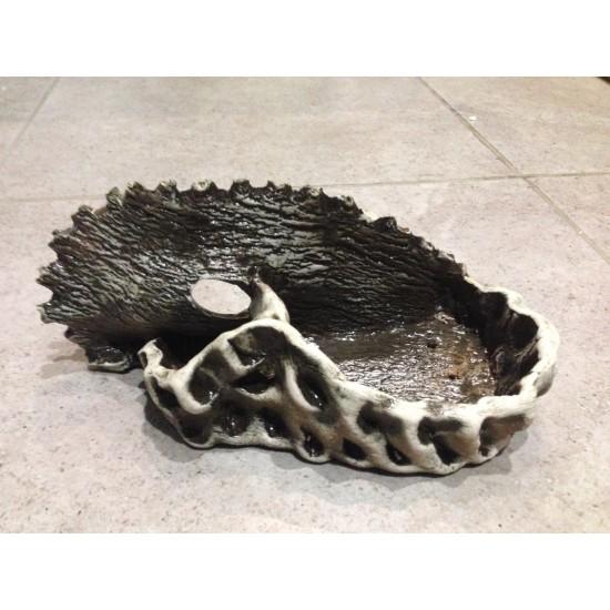 Фото Декорация керамика стена с горшком (ракушка) - 24см х12см Смотреть