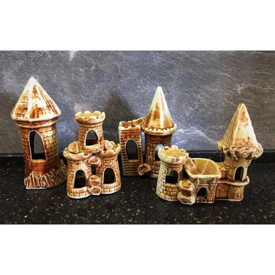Фото Декорация керамика в ассортименте (амфора, башня, сундук, череп и тд) - 7-15см Смотреть