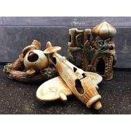 Декорация керамика в ассортименте (самолет, башни, лодки и тд) - 20-32см