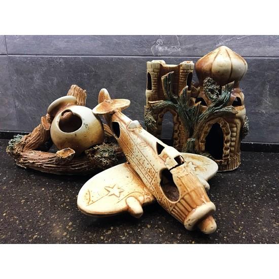 Фото Декорация керамика в ассортименте (самолет, башни, лодки и тд) - 20-32см Купить