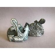 Декорация керамика якорь - 14см х 12см