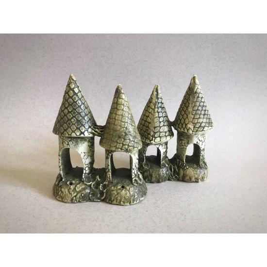 Фото Декорация керамика замок двойной - 10см х 13см labeo.com.ua