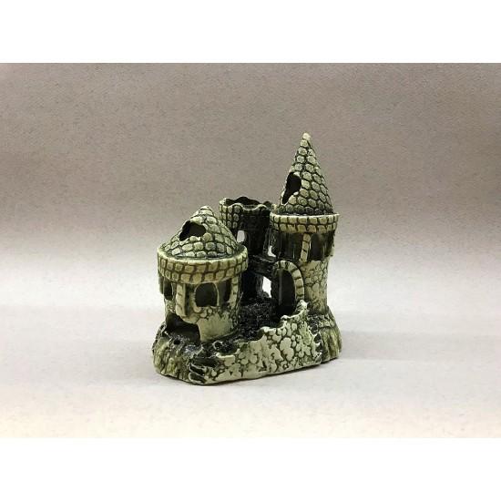 Фото Декорация керамика замок тройной - 15см х 12см Смотреть
