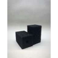 Губка гладкая черная среднепористая 6х6х10