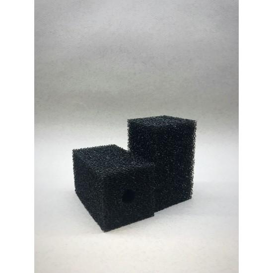 Фото Губка гладкая черная среднепористая 6х6х10 Смотреть