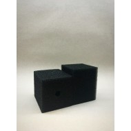 Губка гладкая черная среднепористая 8х8х12