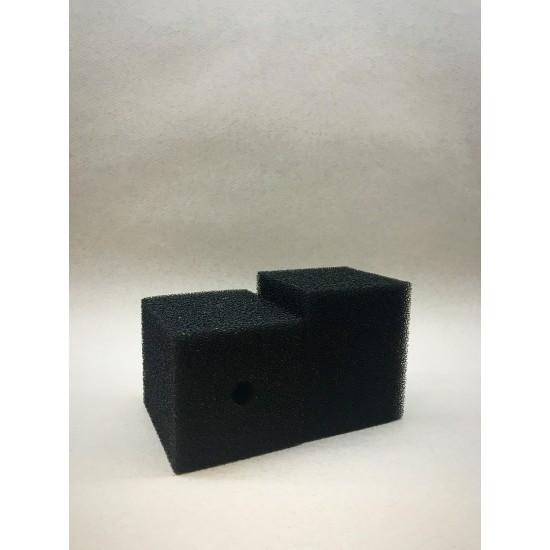 Фото Губка гладкая черная среднепористая 8х8х12 Смотреть