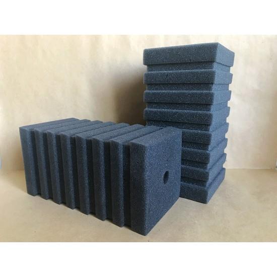 Фото Губка рельефная темно-серая мелкопористая (сквозные поры) 10х10х20 Купить