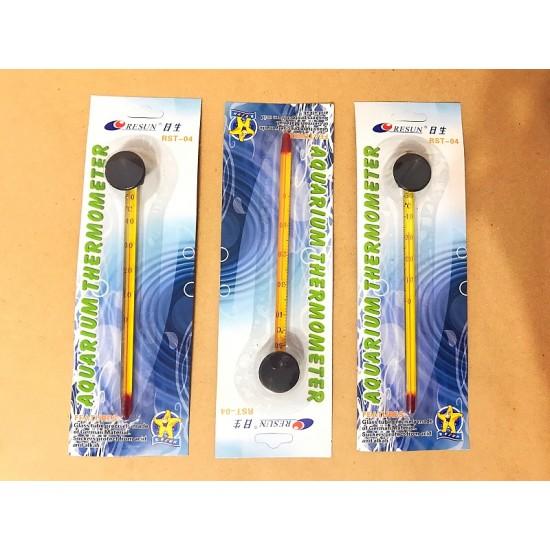 Фото Термометр стеклянный желтый тонкий RST-04 RESUN labeo.com.ua