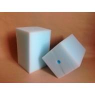 Губка гладкая белая мелкопористая 10х10х15